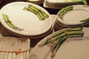 Handbeschilderde aspergeschalen