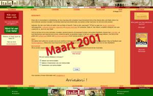 Italie.nl in maart 2001