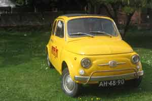 De Fiat Cinquecento is toch mijn favoriete auto thuis