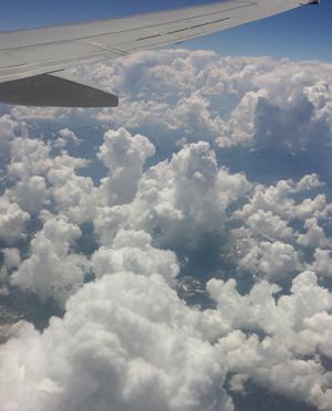 Blijft leuk, fotograferen vanuit het vliegtuig