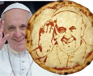 Pizza Papa - de paus op een pizza van Domenico Crolla
