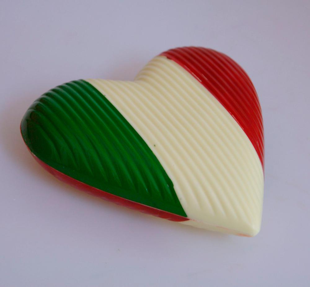 Italiaans hart van chocola