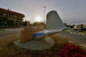 Monument slachtoffers vliegtuigramp Superga Turijn