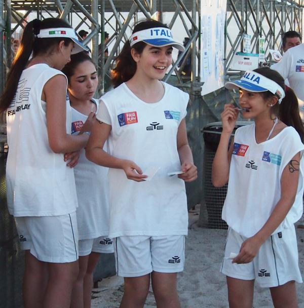 ballenmeisjes EK beachvolley cagliari