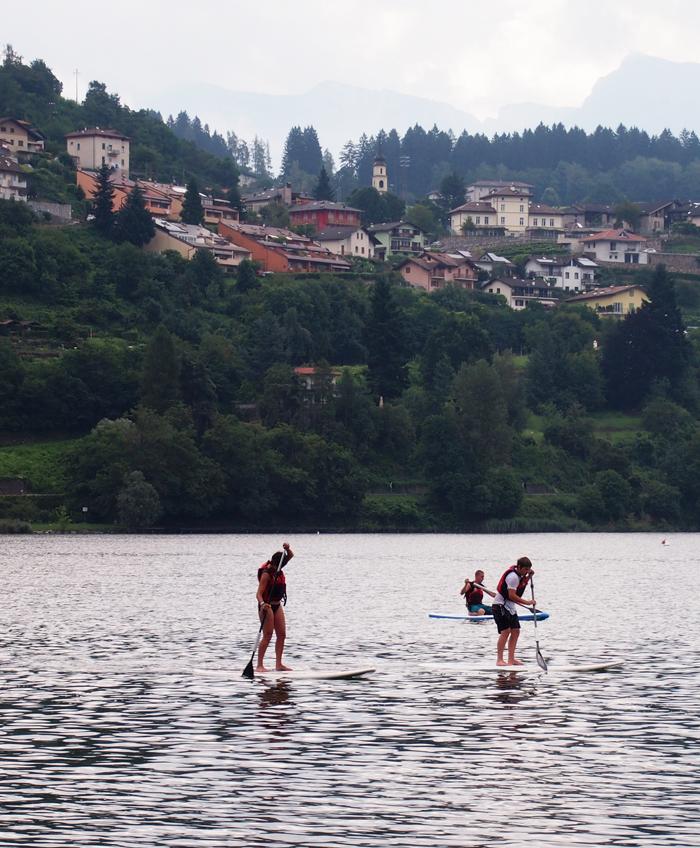 Suppen op het Caldonazzo meer