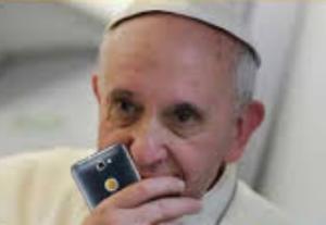 de Paus over het gebruik van de mobiel aan tafel