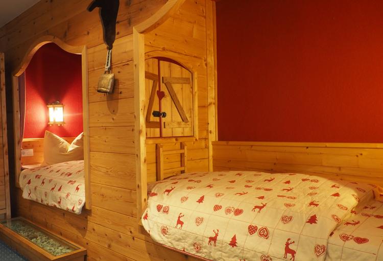 Kamer in hotel Flintsbach, copyright Claudia Zanin