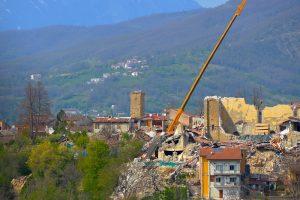 Het ingestorte dorp Amatrice
