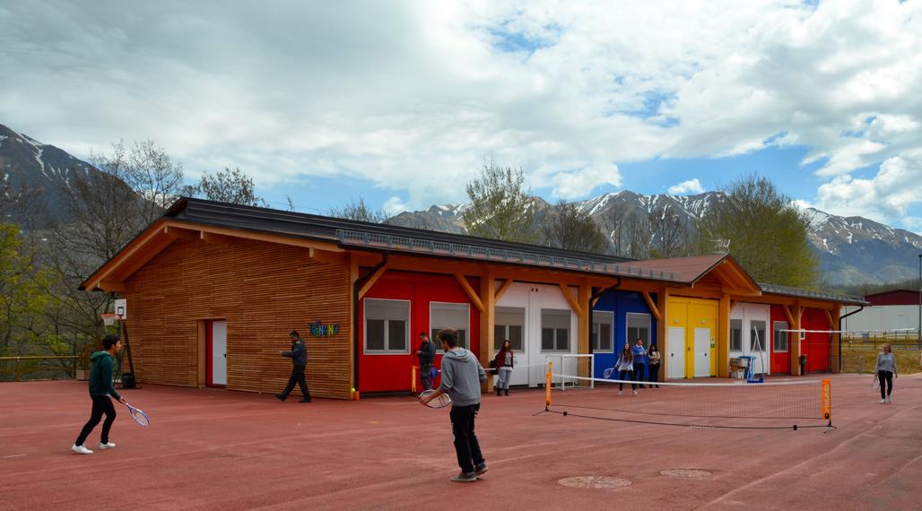 De nieuwe school in Amatrice