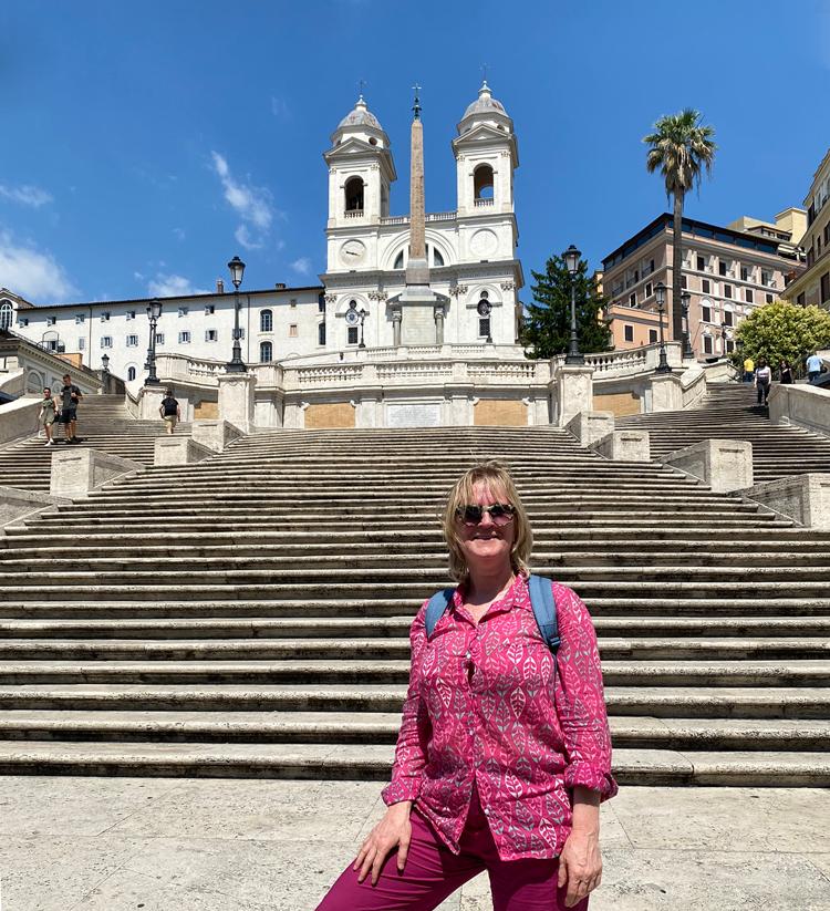 Sandrina Bokhorst in Rome